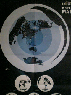 WORLD MAP from TOKYO