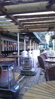 雨の日の水上カフェと赤城カフェ