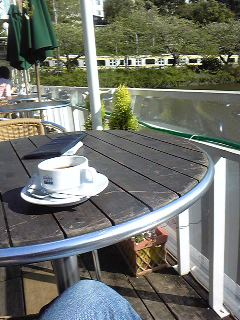 大雨のCANAL CAFEでビュッフェ